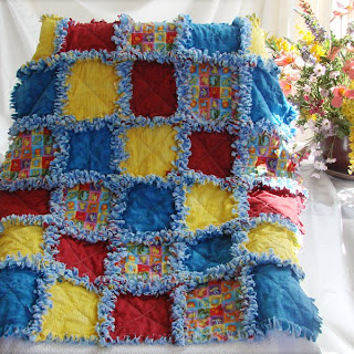Bright And Fun Primary Colors Baby Quilt