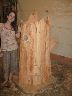 Blurt Blogger Fairy Tree Stump Dollhouse