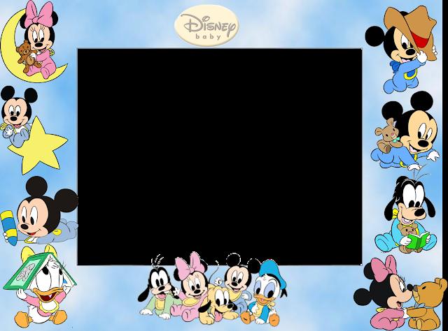 Para hacer invitaciones, tarjetas, marcos de fotos o etiquetas, para imprimir gratis de los Bebés Disney.