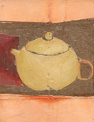 Little Teapot, 2006. oil on hardboard. 22.9 x 17.8 x 4.5 cm
