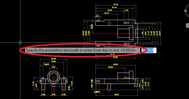 AutoCAD & Adaucogit Salt: 自動標註後的尺寸文字比例