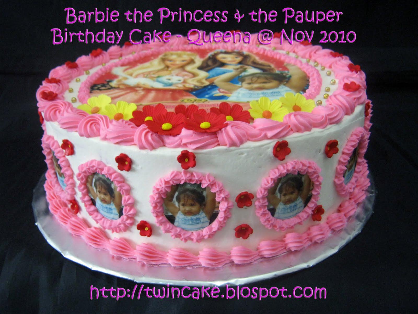 Twincake Barbie The Princess Amp The Pauper Birthday Cake