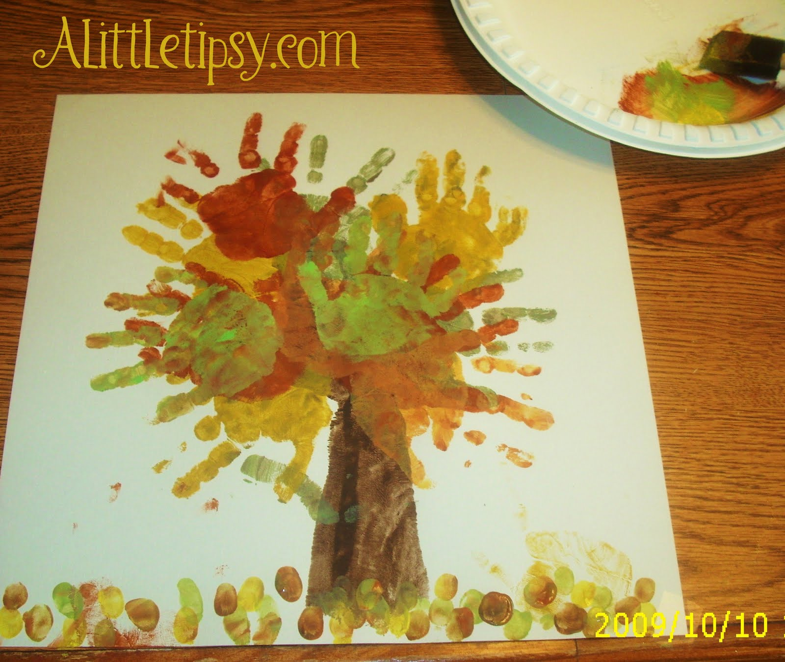 Fall Tree Handprint Crafts Christmas Art Ideas For Infants