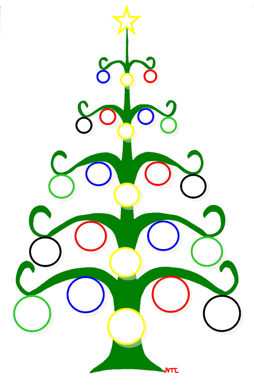 Sapin   colorier