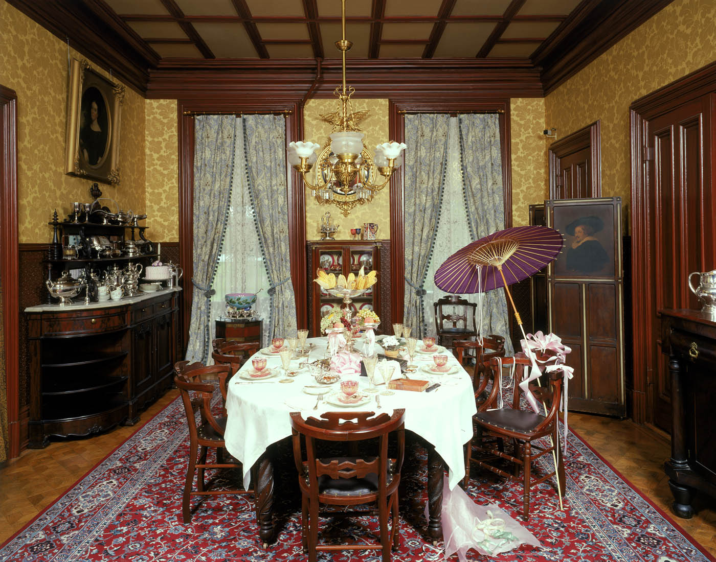 dining room pictures 2017  Grasscloth Wallpaper