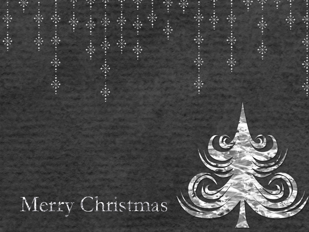 Mollycooks Creations Simply Black Merry Christmas Desktop