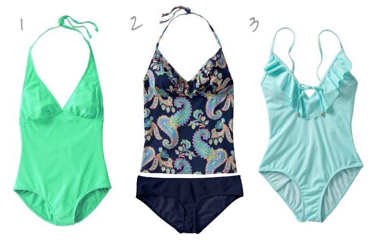 ddc90316be1ca 1 - Halter Swimsuit - $19.00 (Orig. $29.50) 2 - Ruffled Tankini Top -  $10.00 (Orig. $19.50) + Bikini Bottom - $10.00 (Orig. $19.50)