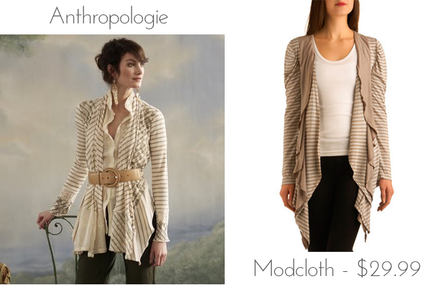 bf0bf2546b9cc9 Über Chic for Cheap  Look for Less  Anthropologie Striped Open Cardigan