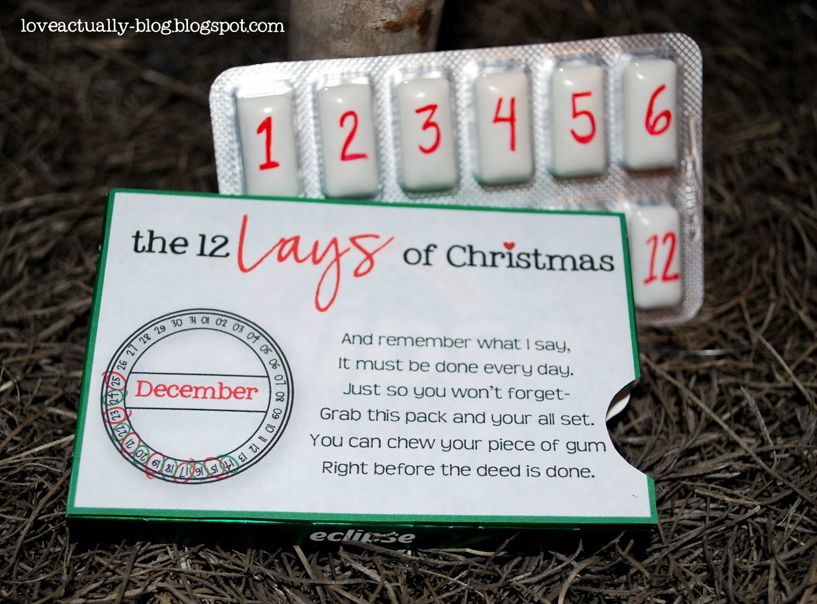 Husband To Be Gift: Love, Actually: The 12 Lays Of Christmas