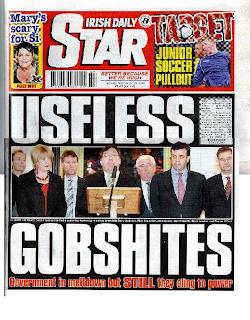 Irish Parliament, Star, Useless Gobshites