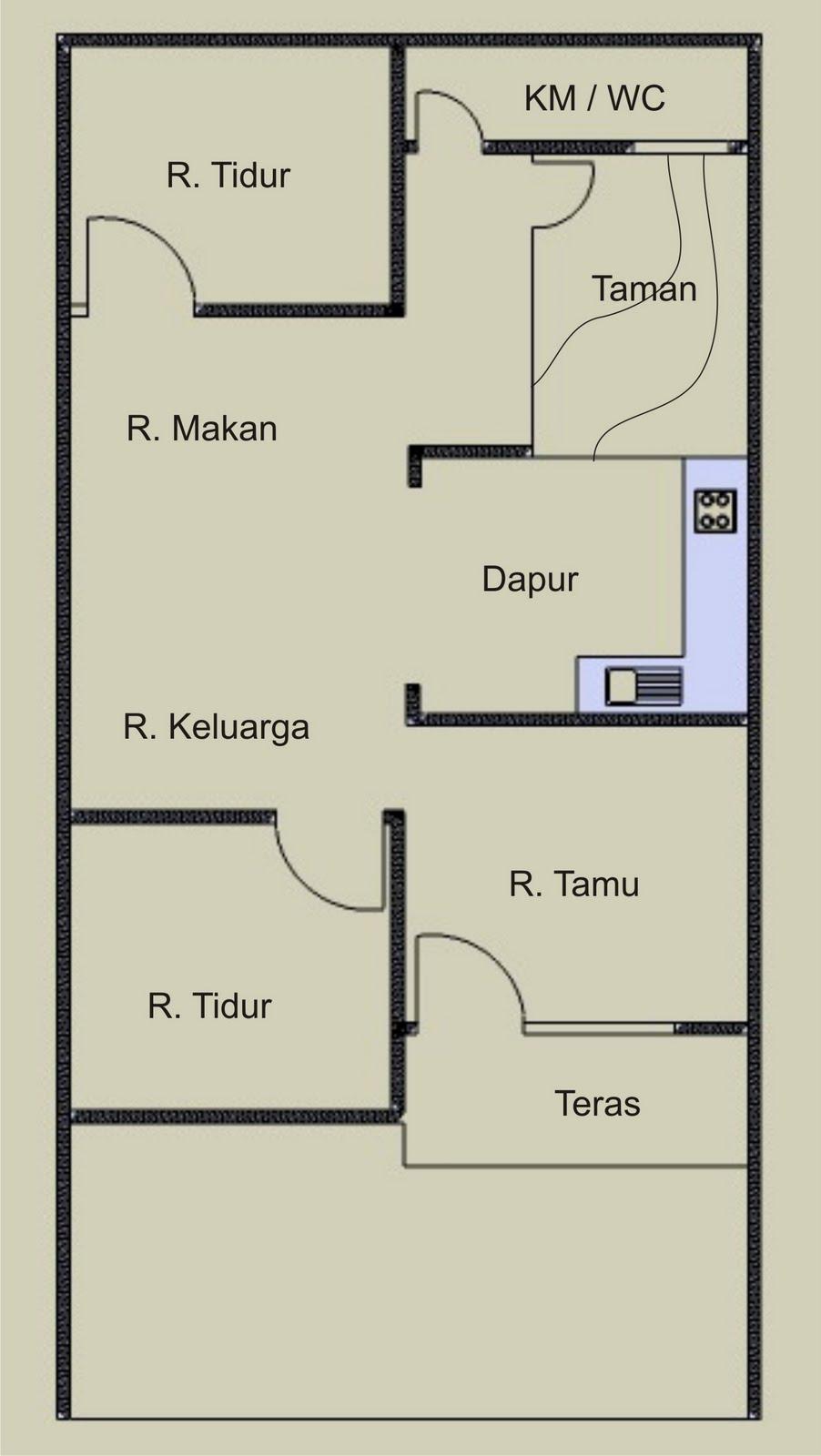 Penempatan Dapur Di Bagian Tengah Rumah