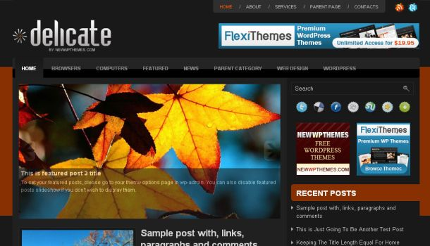 Free Orange Magazine Wordpress Premium Theme