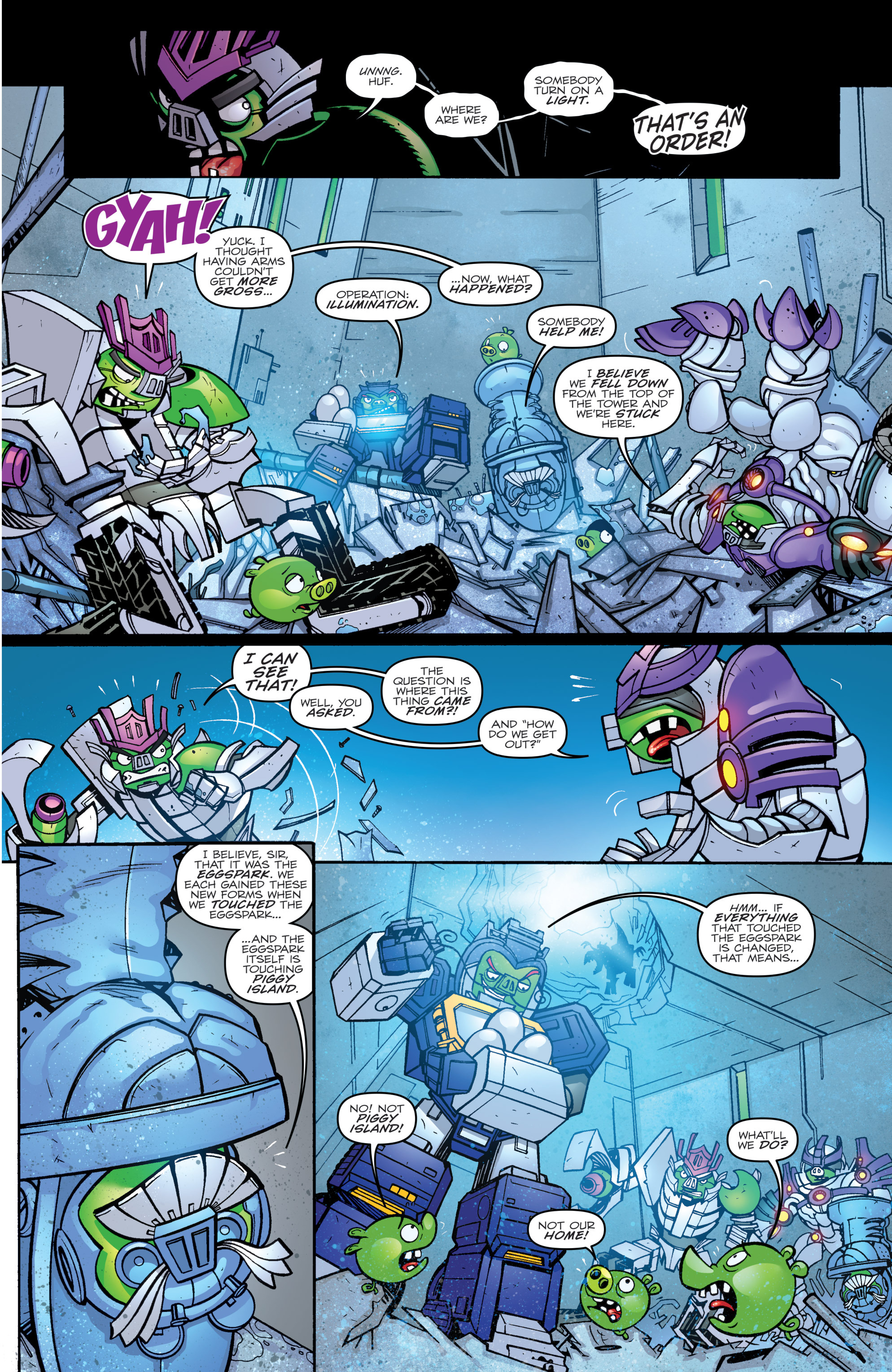 Read online Angry Birds Transformers comic -  Issue #2 - 13