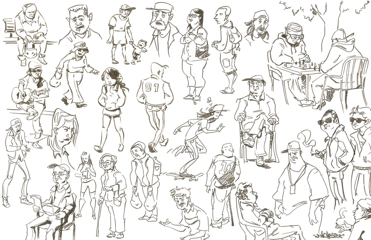 Winchester Art Blog People Sketching
