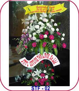 bunga standing acara ulang tahun perusahaan