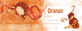une illustratrice qui aime les couleurs ! illustration jeunesse fillet et renard aujourd'hui c'est orange !