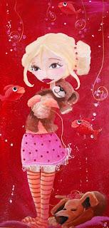 Petit princesse : peinture acrylique