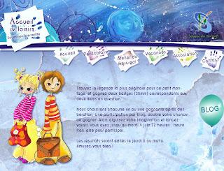 deux personnages illustrés une fillette et un graçon pour le site internet de souesmes réalisée par la graphiste et illustratrice laure