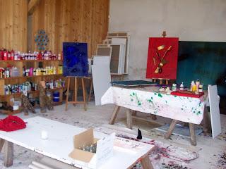 une illustration et une peinture au sein du château