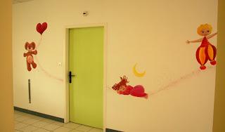fresque par l'illustration laure phelipon éléphant girafe guitariste dessins enfantins
