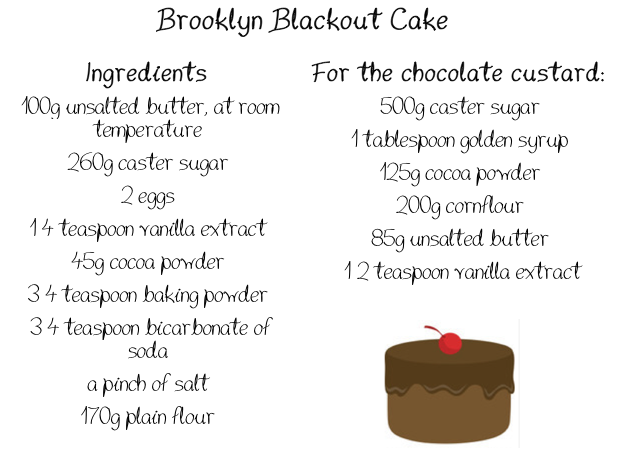 Brooklyn Blackout Cake Hummingbird Recipe