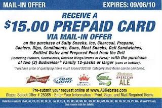 Frugalapolis | Frugal Living: $15 Budweiser Beer Rebate Offer