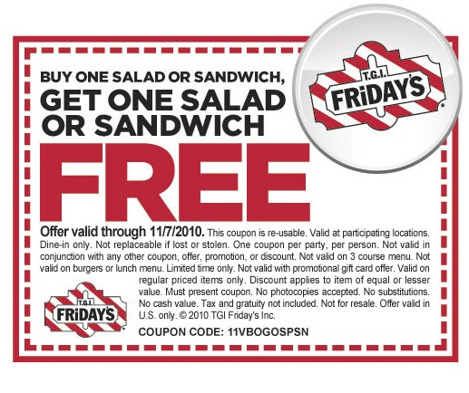 graphic regarding Tgifridays Printable Coupons identified as Tgi fridays coupon codes cell united kingdom : Coupon crystal light-weight $2.00 off