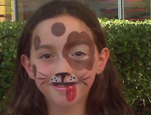 Simple wolf face paint
