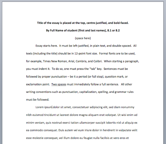 What Is A Formal Essay Format