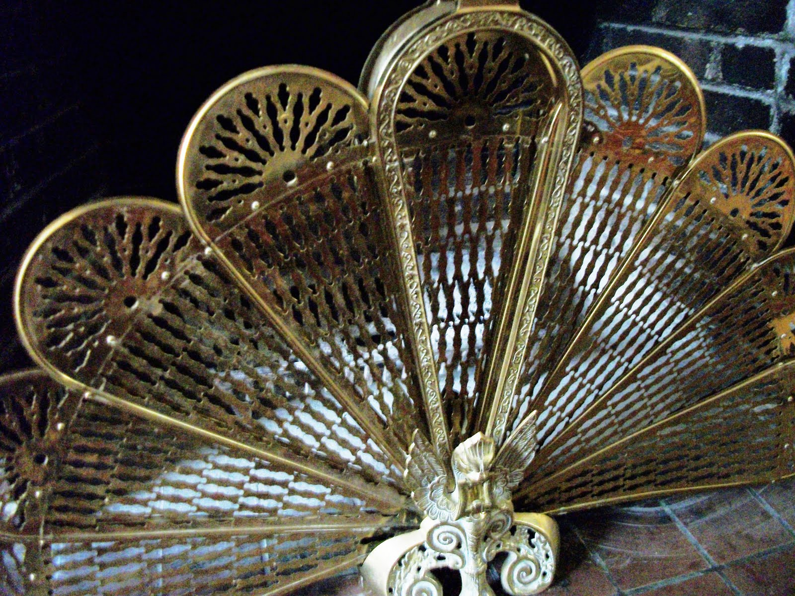 Writing Straight From The Heart Antique Brass Peacock