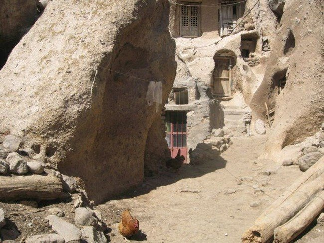 Unique village in Kandovan, Iran
