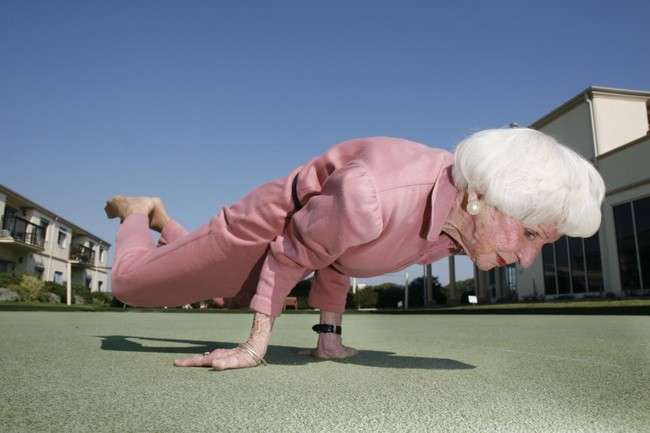 Oldest Yoga Master: 83 Year Old Bette Calman