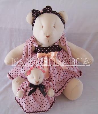 Ursinha Marrom e Rosa…e… Aniversário!!!…heheheh