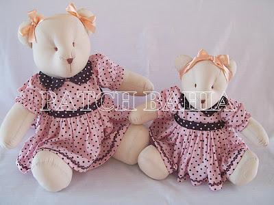 Ursas Marrom e Rosa…Mais quatro…