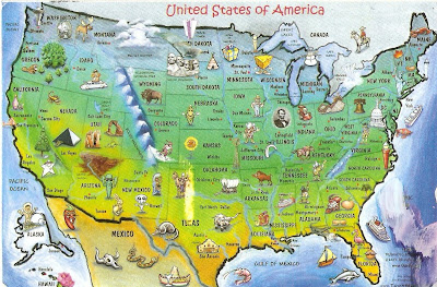 Map Usa tourist Attractions