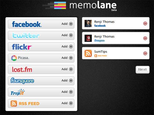 Memolane Accounts