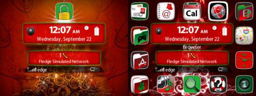 6 Beautiful BlackBerry Christmas Themes | SumTips