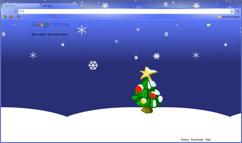 Christmas Google Chrome Theme