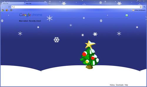 Christmas Google Chrome Theme
