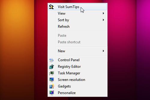 Enhanced Windows Desktop Context Menu