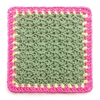 Variations on a Theme Square #2 Mystery Crochet Along edging complete