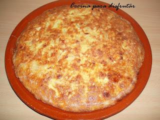 receta TORTILLA DE PATATAS Y CEBOLLA