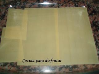 receta LASAÑA DE VERDURAS