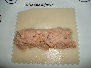 receta CANALONES