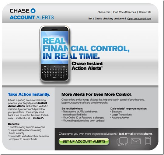 Chase Introduces Instant Action Text Alerts to Allow Customers to