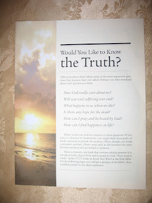 Letters From The Governing Body Of Jehovah s Witnesses  New Tract     New Tract  Would You Like To Know The Truth