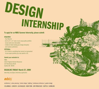 interior design summer internships london