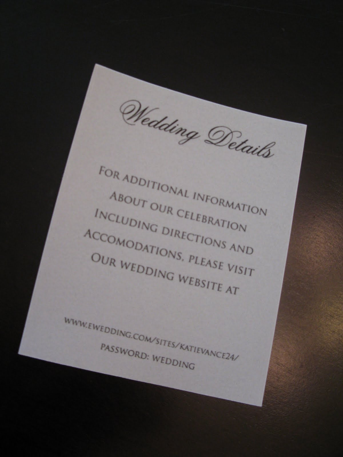 Where To Put The Wedding Website