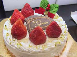 Japanese Christmas Cake.Food Lorists Japanese Christmas Cake