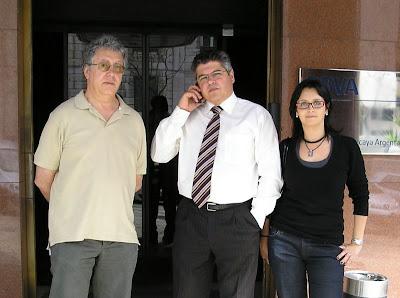 Luciano Luxilde (CIG), João Bonito Comissao (CT) Portugal e Teresa Richard (CIG) Galiza